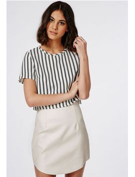 hanah-snake-embossed-faux-leather-mini-skirt-white by missguided