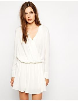 bcbgeneration-playsuit-with-dropped-waist-and-cross-front by bcbgeneration