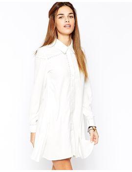 glamorous-swing-shirt-dress-with-crochet-insert by glamorous