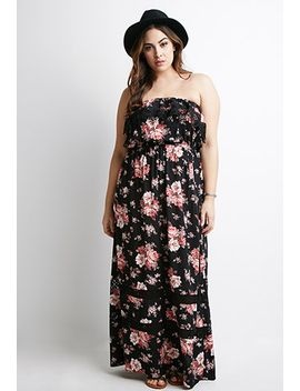 floral-print-crochet-maxi-dress by forever-21