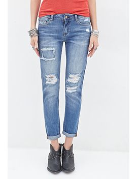 mid-rise---distressed-boyfriend-jeans by forever-21
