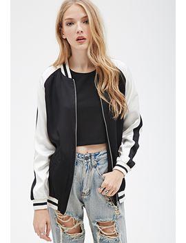 colorblocked-varsity-stripe-bomber-jacket by forever-21