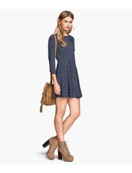 mønstret-kjole by h&m