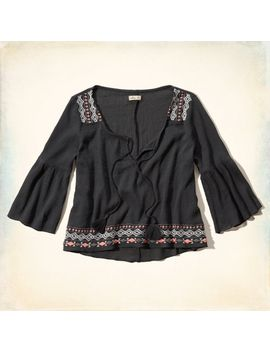 los-trancos-peasant-top by hollister