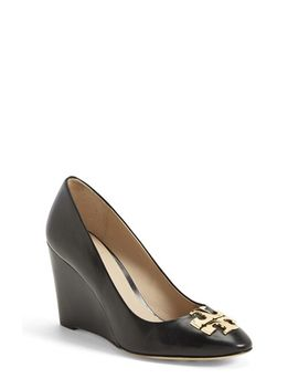 raleigh-leather-wedge-pump by tory-burch