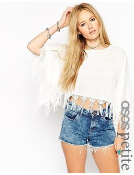 asos-petite-poncho-top-with-lace-trim by asos-petite