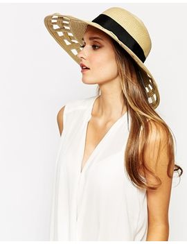 reiss-lucien-cut-out-straw-floppy-hat by reiss