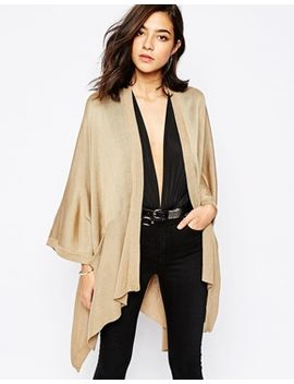 warehouse-knitted-pocket-cape by warehouse