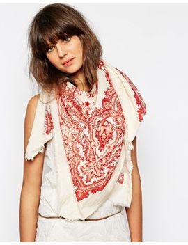 maison-scotch-oversized-bandana-print-scarf by maison-scotch