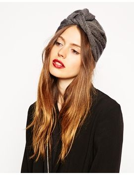asos-fine-rib-knitted-turban-hat by asos-collection