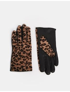 new-look-animal-print-leather-gloves by new-look