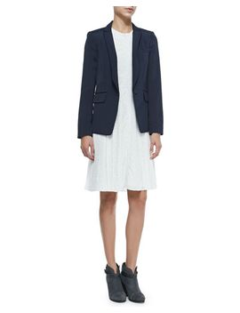 roseberg-one-button-blazer-w_-peaked-lapels-&-nettie-sleeveless-zip-pocket-dress-w_-dots by rag-&-bone