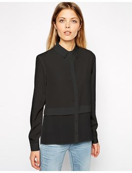 asos-sheer-panel-hem-blouse by asos-collection