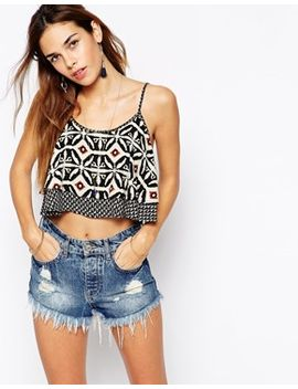 kiss-the-sky-layered-crop-cami-top-in-aztec-print by kiss-the-sky
