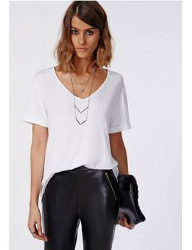 white-boyfriend-v-neck-t-shirt by missguided
