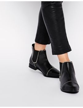 asos-allie-zip-detail-chelsea-boots by asos-collection
