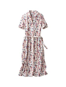 women-idlf-cotton-printed-short-sleeve-tea-dress by uniqlo