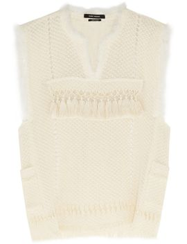 tacey-crocheted-cotton-blend-top by isabel-marant