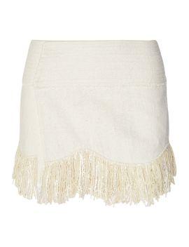 natacha-fringed-woven-silk-wrap-mini-skirt by isabel-marant