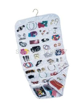 double-sided-72-pockets-hanging-jewelry-organizer-jewelry-display-earring-rings-bracelets-storage-bags-hanger by ali-express