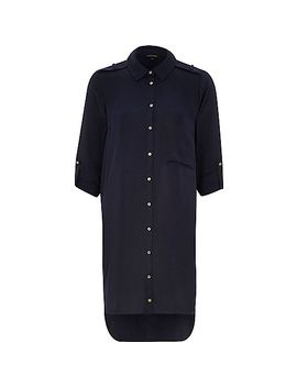 navy-shirt-dress by river-island