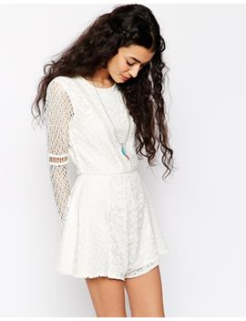 asos-romper-in-pretty-patched-lace by asos-collection