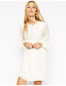 asos-swing-boho-dress-with-lace-bib by asos-collection