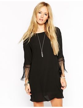asos-shift-dress-with-fringe-detail by asos-collection