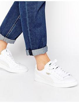 puma-basket-classic-white-trainers by puma