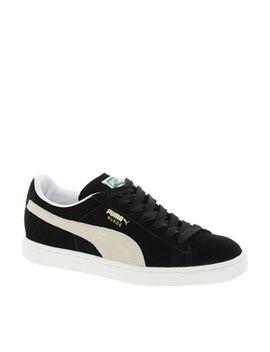 puma-suede-classic-black-trainers by puma