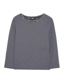 baseball-striped-cotton-blend-top by apc-atelier-de-production-et-de-création