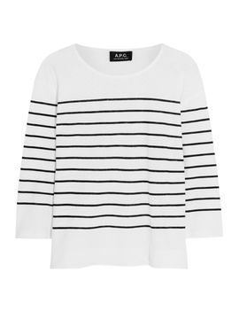 mariniere-striped-cotton-and-linen-blend-top by apc-atelier-de-production-et-de-création