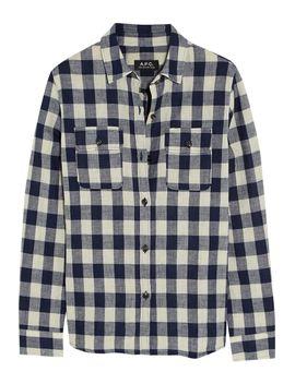 girl-plaid-cotton-blend-shirt by apc-atelier-de-production-et-de-création