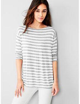 stripe-fluid-tunic by gap