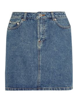 denim-mini-skirt by apc-atelier-de-production-et-de-création