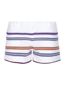 kedame-striped-cotton-blend-gauze-shorts by lemlem