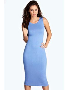 lindsey-sleeveless-midi-dress by boohoo