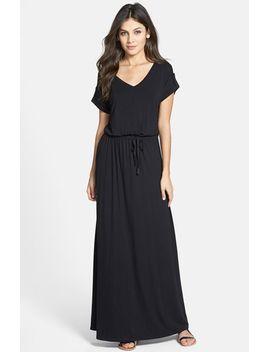 roll-sleeve-v-neck-maxi-dress by caslon®