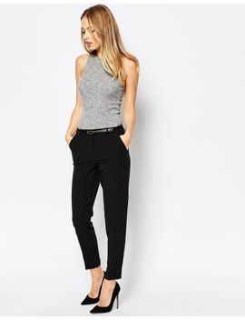 asos-the-slim-tailored-cigarette-pants-with-belt by asos-collection