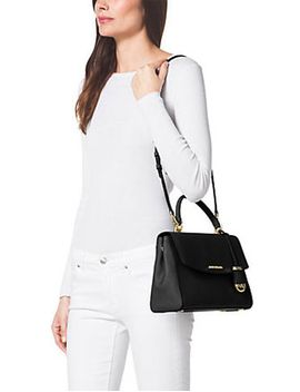 Mk Ava Medium Saffiano Leather Top Handle Satchel by Michael Michael Kors