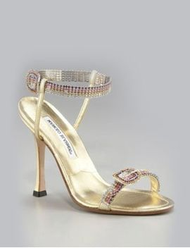 Rainbow Crystal Sandals by Manolo Blahnik