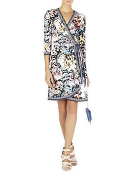Adele Print Wrap Dress by Bcbgmaxazria