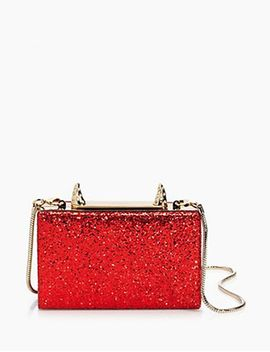 Place Your Bets Glitter Fabric Ravi Horn Clutch by Kate Spade New York