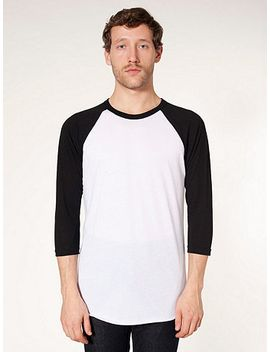 unisex-50_50-raglan-3_4-sleeve-t-shirt by american-apparel