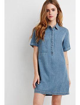 denim-shirt-dress by forever-21