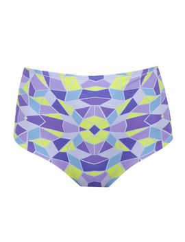 Zinke Marlow Kaleidoscope High Waisted Bikini Bottom by Zinke Swimwear