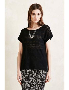 Second Female Viola Lace Tee by Anthropologie