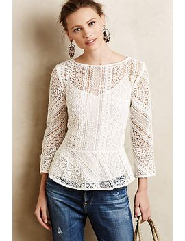 Ethene Lace Blouse by Anthropologie