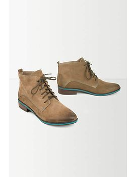Leather Lace Up Boots by Anthropologie