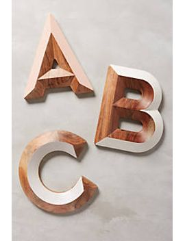 Woodshop Monogram Letter by Anthropologie